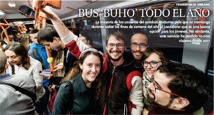 BUS 'BÚHO' TODO EL AÑO