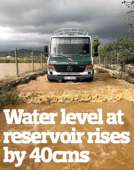 WATER LEVEL AT RESERVOIR RISES BY 40CMS