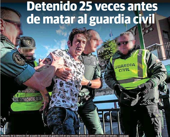 DETENIDO 25 VECES ANTES DE MATAR AL GUARDIA CIVIL